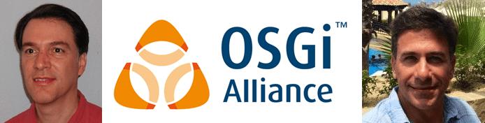 Dan Bandera and BJ Hargrave's headshots and the OSGi Alliance logo