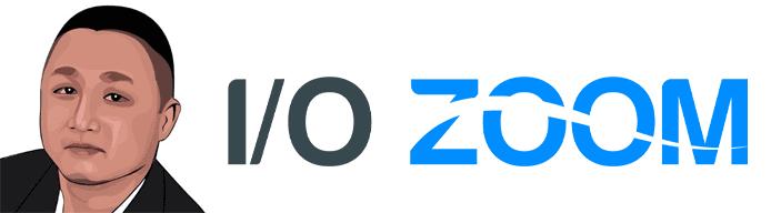 Rendering of Kiet Duon's headshot and the IO Zoom logo