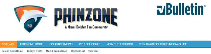 Screenshot of the PhinZone forum page and the vBulletin logo