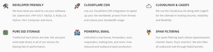 Screenshot of Squidix hosting features