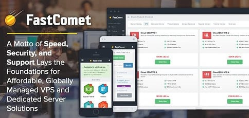 """FastComet's Motto of """"Speed, Security, and Support"""" Lays the Foundations for Its Affordable, Globally Managed VPS and Dedicated Server Solutions"""