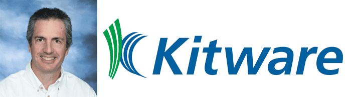 Bill Hoffman's headshot and the Kitware logo