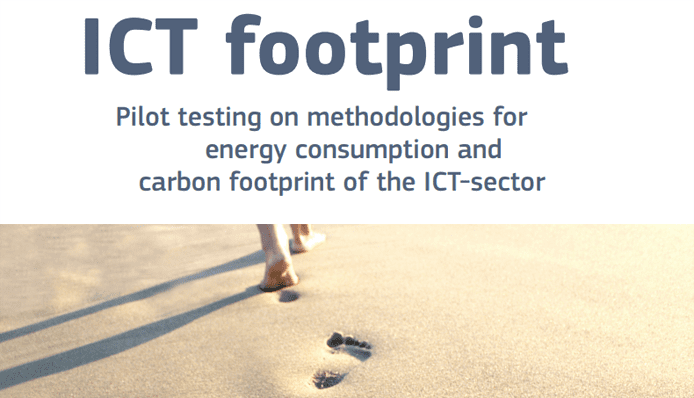 Screenshot from an Ecofys study on energy efficiency in the ICT sector