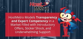 HostMetro Models Transparency and Expert Competency in a Market Filled with Introductory Offers, Sticker Shock, and Underwhelming Support