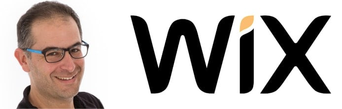 Image of Uval Blumenfeld and the Wix logo