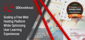 2018 Featured Expert 000webhost — The Challenges of Scaling a Free Hosting Platform While Optimizing Learning Experiences for Users