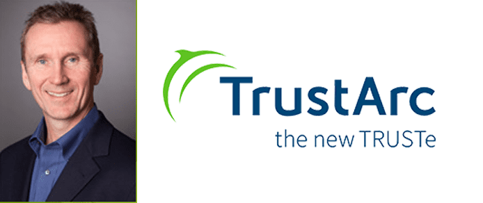 Dave Deasy's headshot and the TrustArc logo