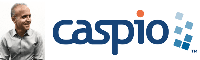 Frank Zamani's headshot and the Caspio logo