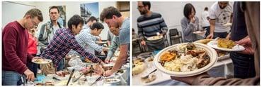 Photos of Berkeley Lab multicultural feast