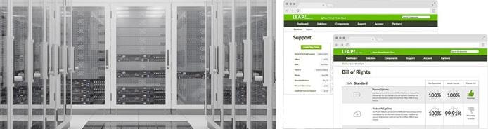 Screenshots of SingleHop security tools