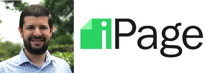 Image of Head of Marketing Zach Kwarta and iPage logo