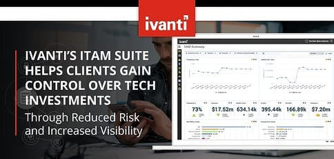 Ivanti's ITAM Suite: Empowering Clients to Gain Control Over Hardware and Software Investments Through Reduced Risk and Increased Visibility