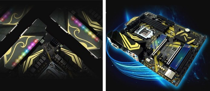 Images of BIOSTAR RACING motherboards with LED lighting