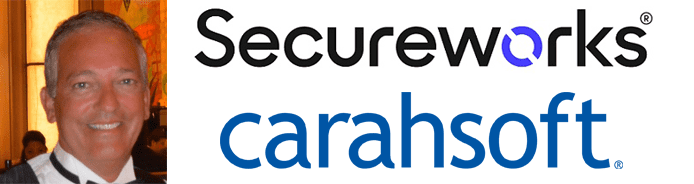 Steven Rich's headshot and the Secureworks and Carahsoft logos