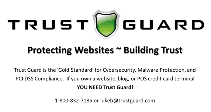 Trust Guard logo and promotional text