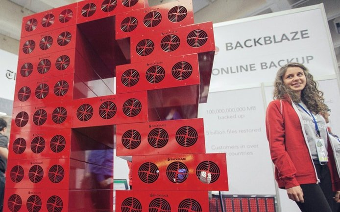 Image of Backblaze conference display