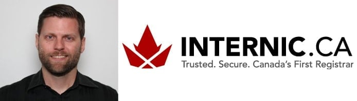 Image of Brett Tackaberry and the Internic logo