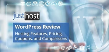 """JustHost """"WordPress"""" Review 2020: Hosting Features and Coupons"""
