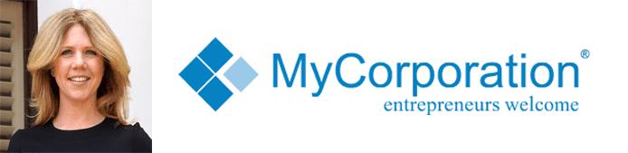 Deborah Sweeney's headshot and the MyCorporation logo