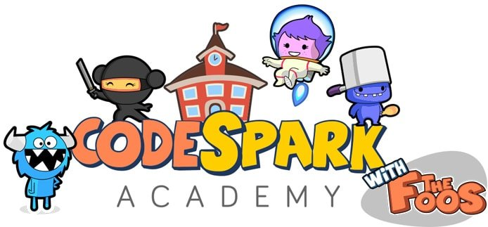 codeSpark logo with The Foos characters