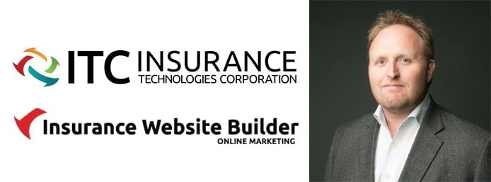 ITC and Insurance Website Builder logos with image of Laird Rixford