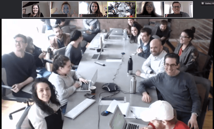 Screenshot of Muck Rack team video conference