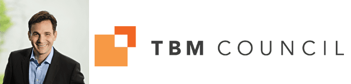 Chris Pick's headshot and the TBM Council logo