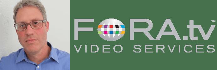 Image of Bob Appel and FORA.tv logo