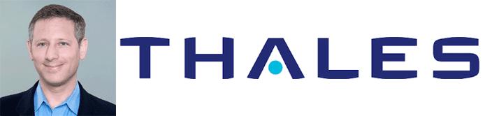 Charles Goldberg's headshot and the Thales logo