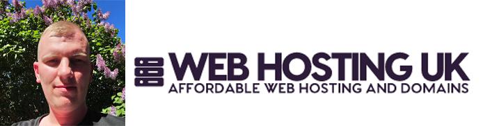 Adrian Smith's headshot and the Web Hosting UK logo