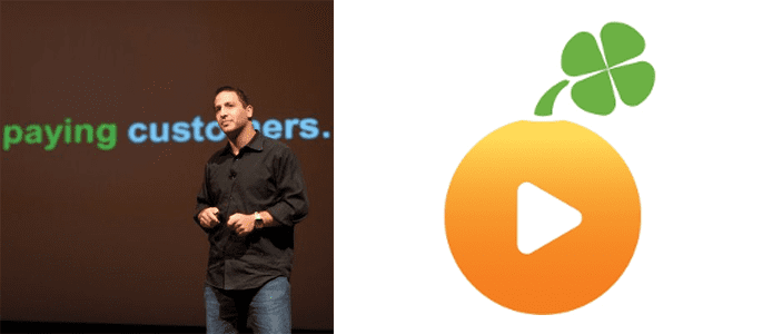 Photo of Danny Wajcman and the Lucky Orange logo