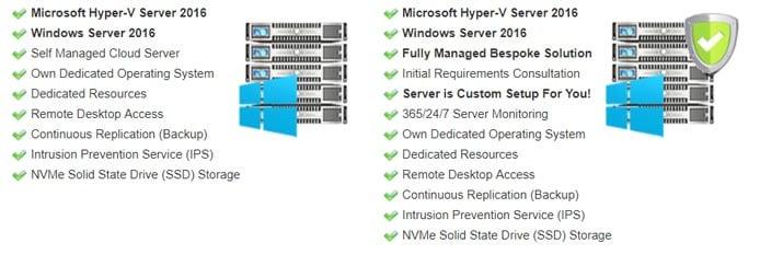 Screenshot of Web Wiz cloud server features