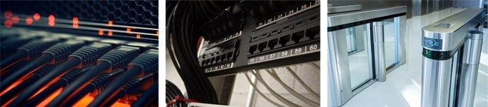 Images of networking and security equipment