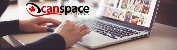 CanSpace logo with a person using a laptop