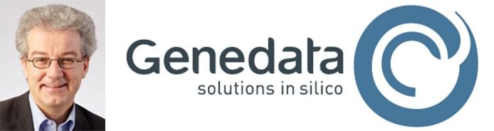 Image of Dr. Othmar Pfannes and Genedata logo