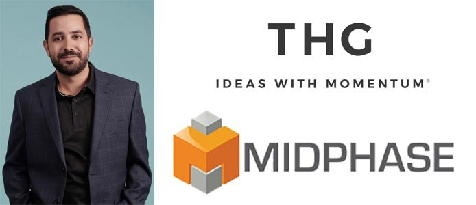 Photo of Greg Rodriguez and The Hut Group and Midphase logos