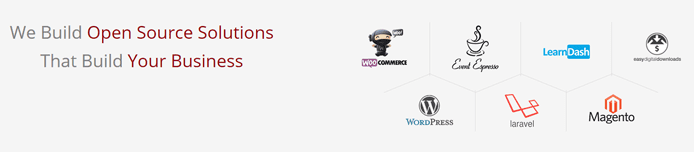 Graphic depicting some of the open-source solutions delivered by WisdmLabs