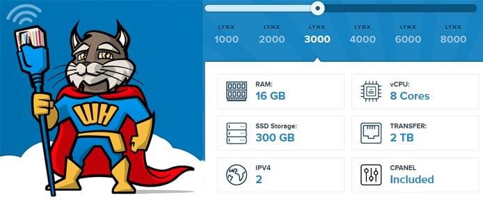 Screenshot of SuperWebHost's cloud features