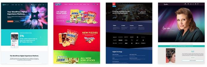 Screenshots of Beaver Builder-created websites