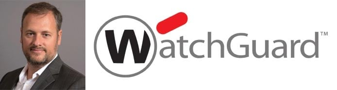 Alex Cagnoni's headshot and the WatchGuard logo