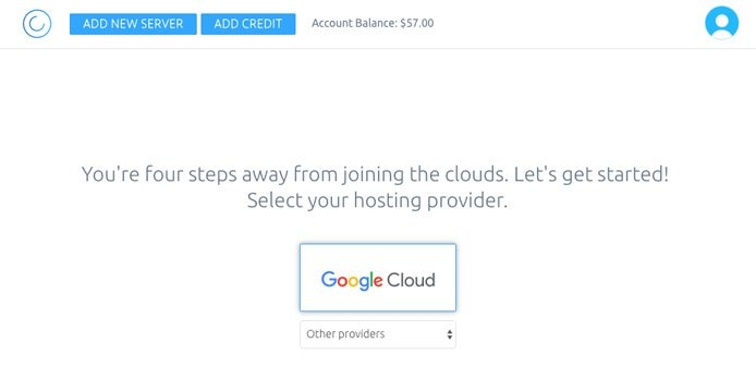 Screenshot of Cloud With Me signup page