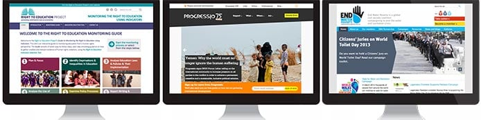 Screenshots of GreenNet customer websites