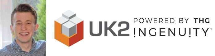 Image of James Hughes with UK2.NET logo