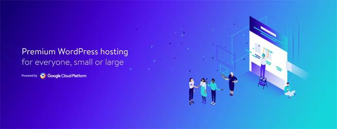 Graphic depicting premium WordPress hosting