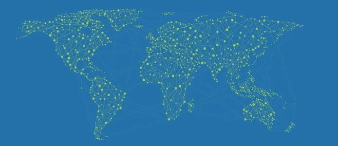 Map of ServerHub's network