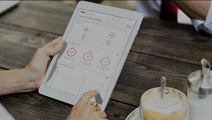 Screenshot of Hibu dashboard