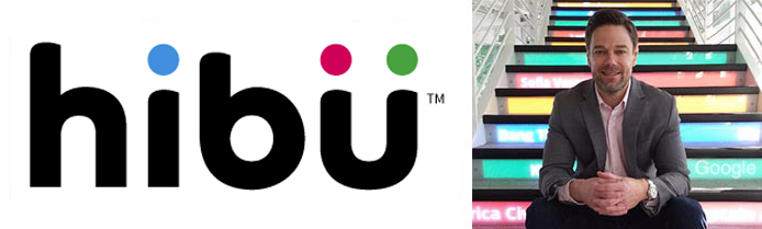 Hibu logo with image of Brandon Flynn