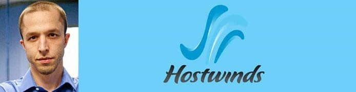 Peter Holden's headshot and the Hostwinds logo
