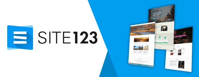 Site123 logo and layout templates