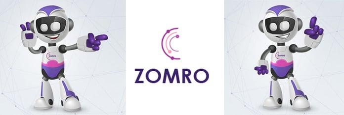 ZOMRO robots and logo